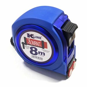 KELI FRANCE – K•LINE – Mètre Ruban Compact magnétique Professionnel, bi-matière, Rigidité maximum 2,2m de tenu, Quadruple accroche, Ruban Extra Large de 25mm (8 Mètres x 25mm)