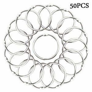 Loriver 50x Album Craft Scrapbook Clips Anneaux à charnières Lâche Leaf Binder Keychain Circle