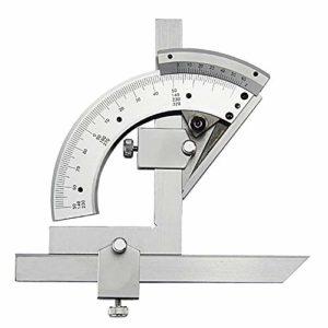 MAATCHH Rapporteur 320 degrés Angle Multifonction Instrument de Mesure Multi-Usage à Haute précision Protractor (Couleur : Argent, Taille : 0-320°)