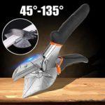 MAICOLA Ciseaux et Ciseaux Multi-Angles Mitre Cutter 45 degrés à 135 degrés de Cisaillement Main Multi-Angle Ciseaux