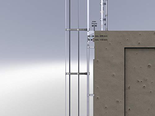 mehrzügige Stei glisseurs avec protection dos Acier inoxydable–530175