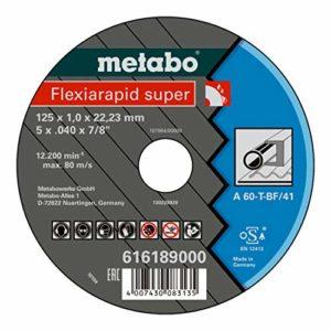 Metabo Flexiamant Super Acier Inoxydable, 115x 1,6x 22,2, 616191000
