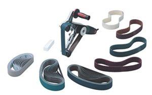 Metabo RBE 12–180Set–(*)–Patins à ruban pour tubes en acier spécial avec accessoires