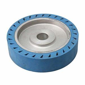 Meuleuse à courroie Roue de contact pour meuleuse à courroie Ponceuse à semelle polie Machine à polir 20 x 5 cm