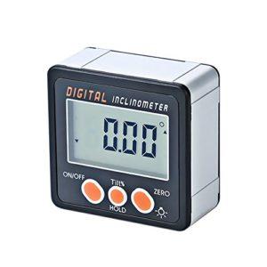 Mini Inclinomètre Électronique Rapporteur Aimants De Base De 360 Degrés Numérique En Alliage D'Aluminium Coquille Bevel Box Angle Jauge Compteur