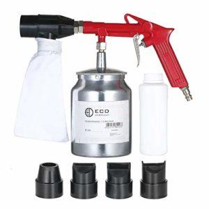 Mini machine de sablage à main Kit de sablage au sable Pistolet de sablage au sable Pistolet de pulvérisation de sable Spot Pistolet de sablage au jet de sable avec dynamitage Sable abrasif et 4