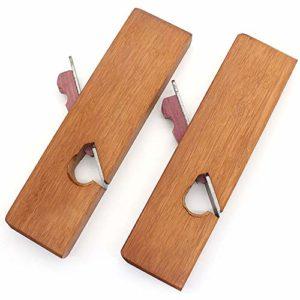 Mini rabot à main en bois de rose outils de poignée de menuisier bricolage à bord inférieur outil de travail du bois unilatéral/plan en bois unique, 24 mm