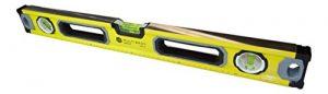 MultiBros Niveau à bulle avec aimant et bulle horizontale, verticale et 45 degrés, jaune