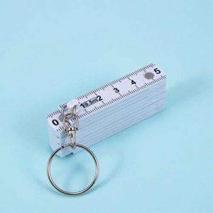 N/ A 50 cm Pliant Porte-clés en Plastique règle Pliante Ruban à mesurer Charpentier Porte-clés Outil de Mesure Portable