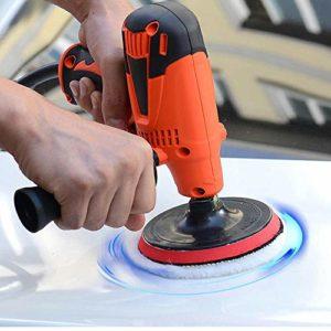Nettoyeur Haute Pression 800W 125MM Voiture électrique Polisseuse Sander Tampon Outils fartage de Kit Vitesse réglable (Couleur : Rouge, Taille : Free)