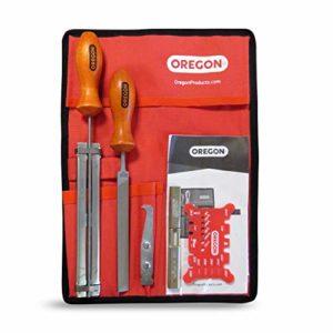 Oregon 558550 Kit d'entretien de guide et d'affûtage de chaîne de tronçonneuse .325″ «avec limes rondes 4,8mm