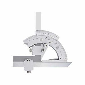 Outil de géométrie mathématique Règle Angle universel 0-320 degrés Angle Règle Angle Vernier Règle énergie universelle outil de mesure Protractor ( Couleur : Argent , Taille : Taille unique )
