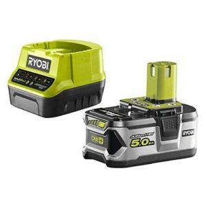 Pack batterie RYOBI 18V OnePlus 5.0Ah et 1 chargeur rapide 2.0Ah RC18120-150