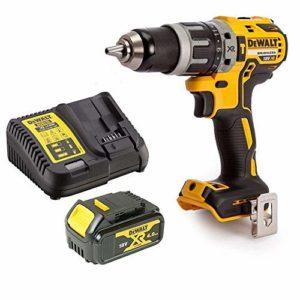 Perceuse combinée compacte sans balais Dewalt DCD796N 18 V XR avec 1 x 4 Ah batterie et chargeur