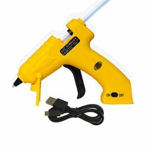 Pistolet à colle chaude, chauffe rapidement Pistolet à colle chaude de charge USB, pour les arts de bricolage, passe-temps, artisanat, réparations à domicile, tissu, bois, verre, carte, plastique