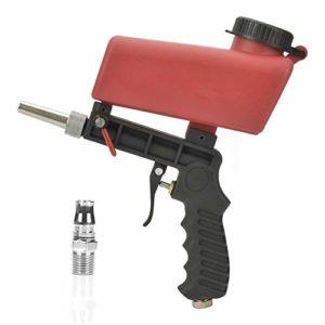 Pistolet à main portatif de sableuse à sable de sableuse portative, alimentation par gravité avec entrée d'air de 1/4 po