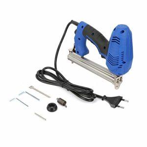 Pistolet à ongles électrique, FX30 Pistolet à ongles électrique Agrafeuse électrique Cloueuse à ongles en acier Outil à bois 220V, force réglable, facile à utiliser