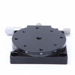 Plate-forme linéaire de coupe d'étape, plate-forme de déplacement manuelle de station de coupe manuelle RS60-L Table coulissante de réglage d'étape linéaire φ60mm, mouvement fluide