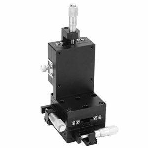 Platine linéaire manuelle, SEMXYZL60-ACR XYZ Plate-forme linéaire à élévation verticale Table coulissante à réglage fin de la phase manuelle 60 * 60mm, avec guides à rouleaux croisés de précision