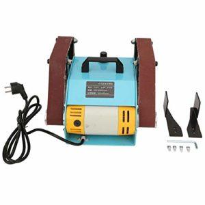 Ponceuse à bande de table, ponceuse à double tête électrique ponceuse à bande de bureau ponceuse 950W EU Plug 220V