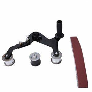 Ponceuse à bande M10, kit de machine de polissage portable pour le ponçage, le forgeage et le polissage des garde-corps installés