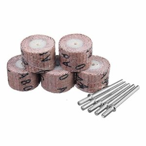 Portable 5pcs 80-600 Grit 20 mm Ponçage roue disques abrasifs Poncer Rond-point Accessary Utilisation confortable (Size : 320#)