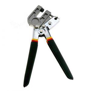 PRINDIY Pince à sertir à Une Main en métal avec Bouchon, Fermeture à Bouchon, Outil de Construction à Sec 10″ Noir