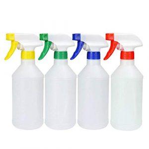 Pulvérisateur en plastique transparent non toxique et sans odeur 500 ml – Anti-fuite – Pour produits de nettoyage – Traitement de jardin