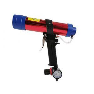 QGL-HQ Haute résistance pneumatique verre Pistolet à colle, anti-débordement Colle design Pistolet à colle de qualité industrielle d'outils à main multifonctions et ergonomique
