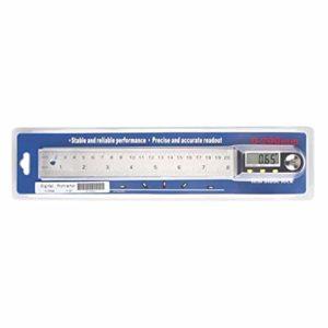 Règle de rapporteur numérique MXECO avec écran LCD Classique en Acier Inoxydable/règle d'angle/Mesure de la Longueur et de l'angle/métrique (Argent (200 mm))