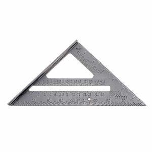 Règle triangulaire à angle droit en alliage d'aluminium de 17,8 cm avec précision 0,1 et valeur de l'échelle pour outil de mesure industriel