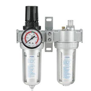 Régulateur de pression de filtre de 1/2″, lubrificateur d'huile de piège d'humidité de compresseur de régulateur de filtre à air