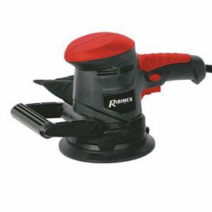 ribimex PRPO125 Ponceuse rotorbitale 450 W, Rouge et Noir