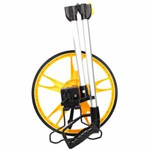 Roue de mesure de distance, roue de mesure mécanique 9999ft 10cm précision rouleau de mesure de distance(0-9999.9ft)