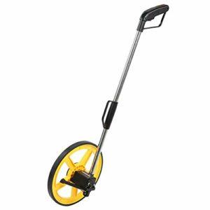 Roues de mesure, Roue de mesure de distance, 0-9999.9m, Roue de mesure pliante pliante, Bande de roulement pour distance de marche, avec lumière LED