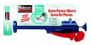 Rubson Pistolet Mastic Easy Service – Pliable et résistant – Pour une application précise du mastic – Noir