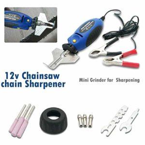 SALAKA 1set Poche Scie à chaîne Grinder 85cmx8cmx5cm Scie à chaîne 12V Grinder électrique extérieur à Main Grinder Chainsaw Sharpener