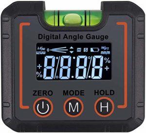 Sasonco Niveau à bulle numérique précis avec écran tactile, gris