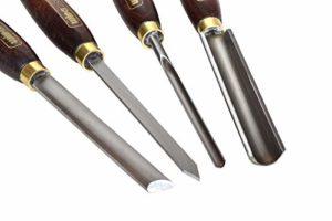 Set de 4 outils de tournage pour bois HSS à profiler