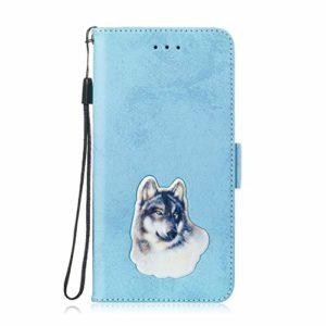 SEYCPHE Coque pour Huawei P Smart/Nova 3i,Flip Coque Premium avec Emplacement de Cartes 360°Housse étui Antichoc Conçu pour Huawei P Smart/Nova 3i Smartphone.Bleu