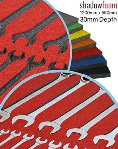 Shadow Foam – Rouge – Organisation de la boîte à outils | Insert en mousse (30 mm)