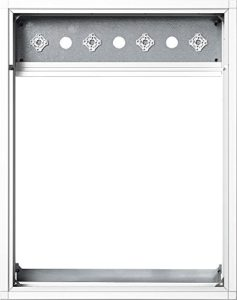 Siedle Kombi Cadre adaptateur Aluminium, TL-1DG bkgu 514–0611, KR 614–1, Gris foncé Glimmer, 5011652