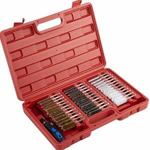 SNOWINSPRING 38Pc Brush Set Kit de Nettoyage et de DéCarbonisation de L'Injecteur Kit de Brosse de Nettoyage en Laiton en Acier en Nylon