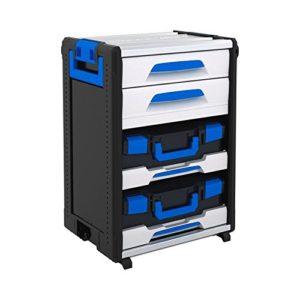 Sortimo 1000004442 WorkMo 24-750 avec 2 tiroirs, 1 multislide, 2 L-BOXXen 136