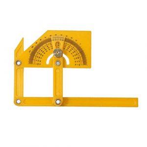 STOBOK Instrument de Mesure de Menuiserie en Plastique Pliable Portable Règle Multi Angle Règle pour L'extérieur