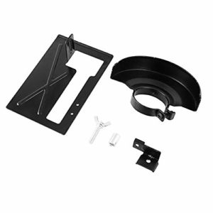 Support de sable de support de coupe de machine de coupe de broyeur d'angle allongé + couvercle de protection pour le travail du bois, outils électriques – noir