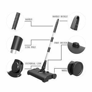 Sweeper rechargeable Balai Manuel, sans fil Premium Power Noir Sweeper