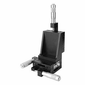 Table coulissante de réglage fin, SEMXYZL80-ACR XYZ Table de diapositives de réglage fin de mouvement linéaire à grande précision de levage manuel 80 * 80mm, bon effet