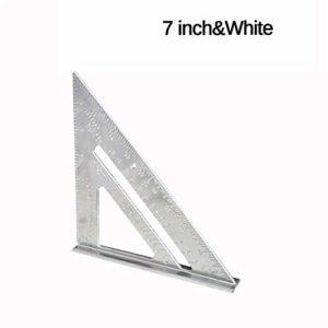 Ting WU Aluminium 7/12 Pouce carré Triangle Règle Mitre Encadrement de Mesure Protractor Outils d'usinage du Bois (Taille : A)