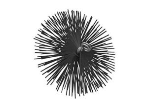 TOOLLAND–vk112Métal Brosse de cheminée, 175mm de diamètre
